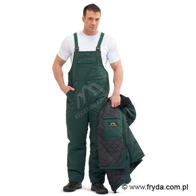 Spodnie ogrodniczki ocieplane – odzież robocza ciepłochronna