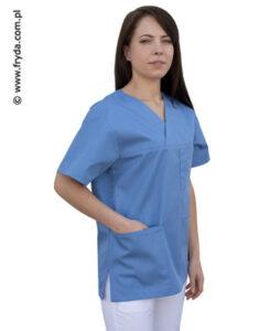 Bluza medyczna błękitna