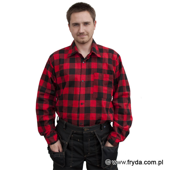 Bawełniana koszula flanelowa czerwona