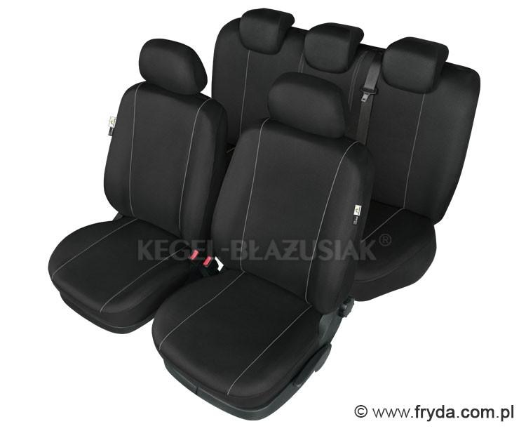 Czarne pokrowce samochodowe HERMES
